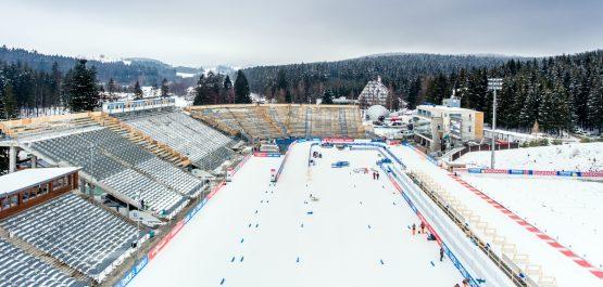 Vysočina Arena je uzavřena pro diváky. Oficiální vyjádření organizačního výboru SP v biatlonu v Novém Městě na Moravě