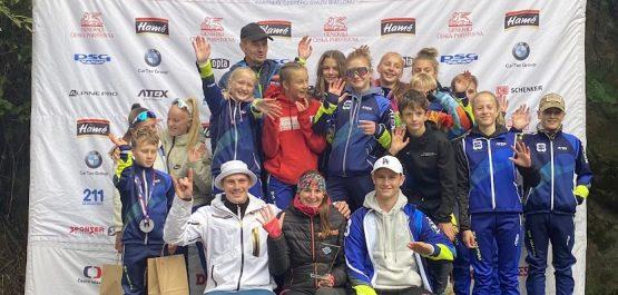 Devět medailí z MČR v letním biatlonu žáků